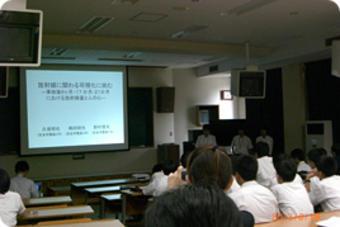 SS研究チーム(放射線研究チーム)が福島高校と研究交流を続けています!