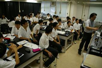 「文化財科学」について研修(奈教大)