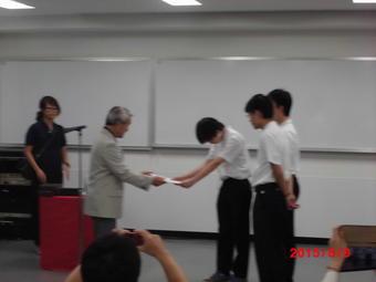 「ハイスクール放射線サマークラス」で審査員特別賞