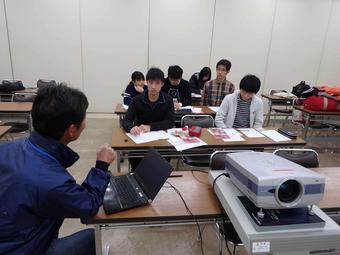 大阪府立花の文化園で研修