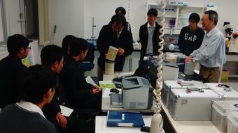 福井県敦賀市で放射線の体験学習(SS研究チーム、科学部)