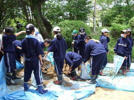 第1回環境研修を実施(中1)