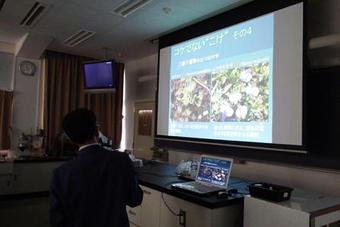 第1回SS出前講義「コケ植物の世界」を行いました