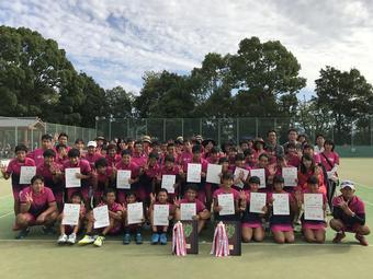 【中学テニス部】第69回奈良県新人テニス大会男女団体戦優勝