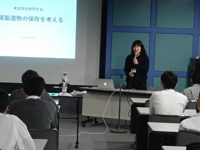 「学外サイエンス学習」で奈良県立橿原考古学研究所へ行ってきました。