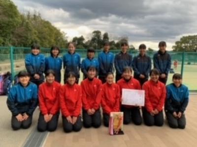 【中学テニス部】第9回近畿新人大会兼全国選抜中学校テニス大会奈良県予選 女子団体戦優勝