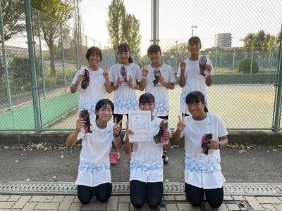 【中学テニス部】令和3年度 近畿私立中学校テニス選手権大会 結果